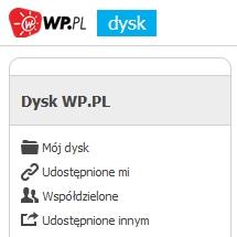 Dysk WP.pl - nowa usługa od Wirtualnej Polski
